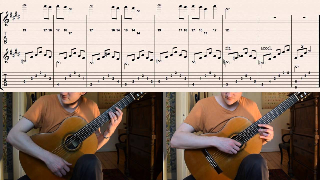 Zelda Ocarina of Time (N64) - Zeldau0026#39;s Lullaby (How to play on guitar with tabs) - YouTube