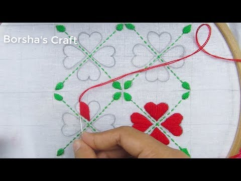 Hand Embroidery, Easy Nakshi Kantha Design and Embroidery Tutorial thumbnail