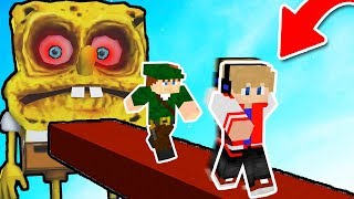 FUJA DO BOB ESPONJA DO DEMÔNIO NO MINECRAFT !