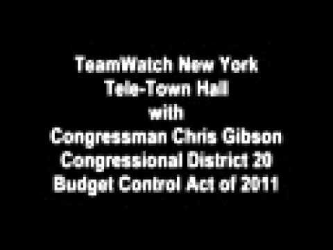 8-3-2011 TeamWatch New York Tele-Town Hall with Congressman Gibson on Budget Control Act of 2011
