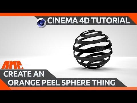 Cinema 4D Tutorial - Create an Orange Peel Sphere Thing