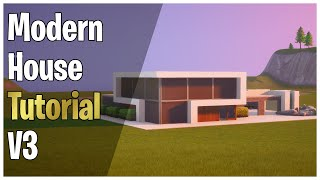 How To Build A Modern Mansion With A Garage And Pool - Fortnite Creative