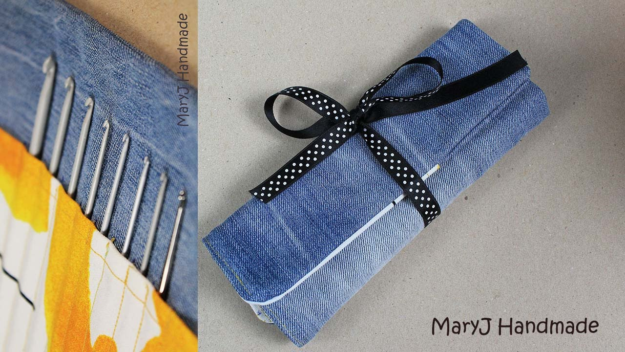 Porta uncinetti fai da te diy hook case collab giupy for Porta cellulare fai da te jeans