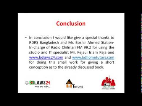 Conclusion Criminal Law of Bangladesh Vol 1