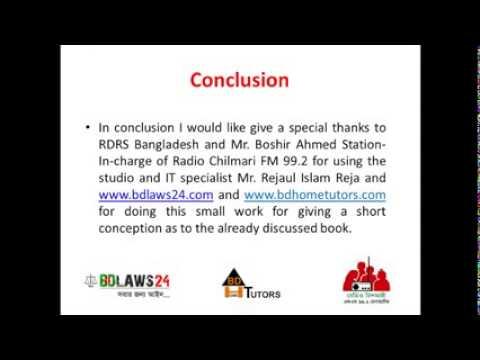 Conclusion Criminal Law of Bangladesh Vol 1