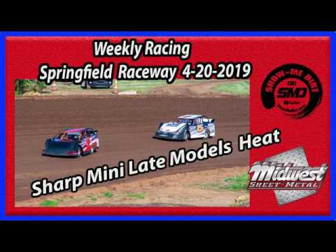S03 E182 Sharp Mini Late Models Heat Races - Weekly Racing Springfield Raceway 4-20-2019 #DirtTrack
