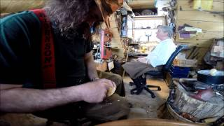 Carving a Kuksa cup from a burl (part 1)