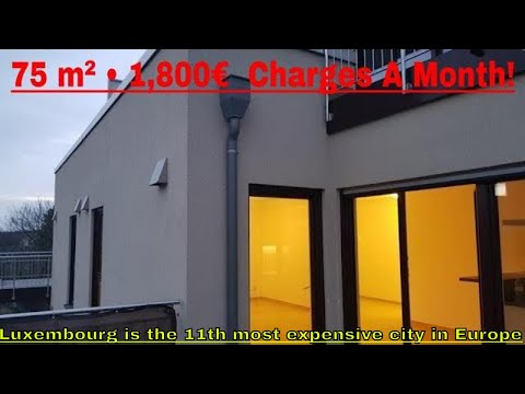 Cost of Living in Luxembourg  •  Apartment in Bertrange • 75 m² • 1,600€ +200€  Charges A Month !