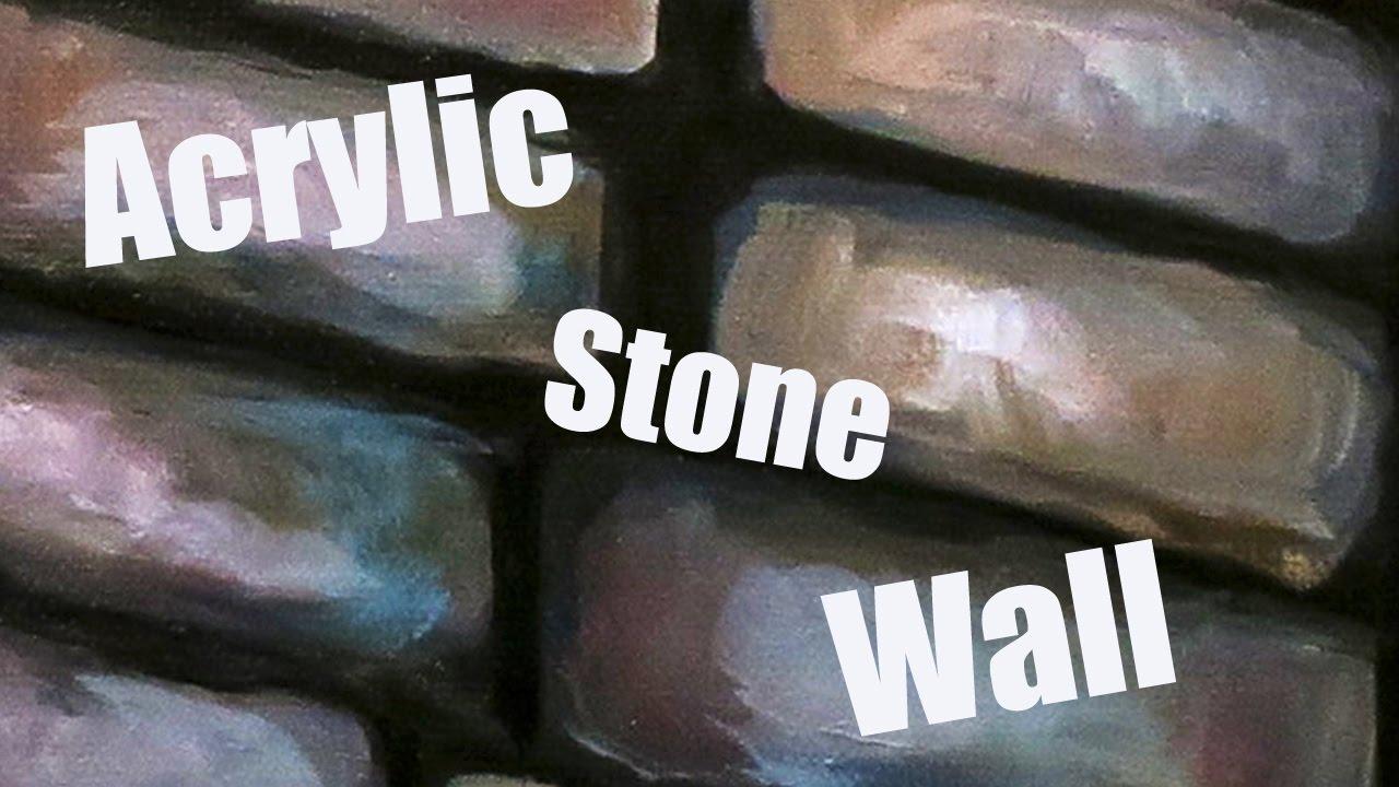 Acrylic Wall Painting Tutorial A Stone On Canvas Sloyi Legu