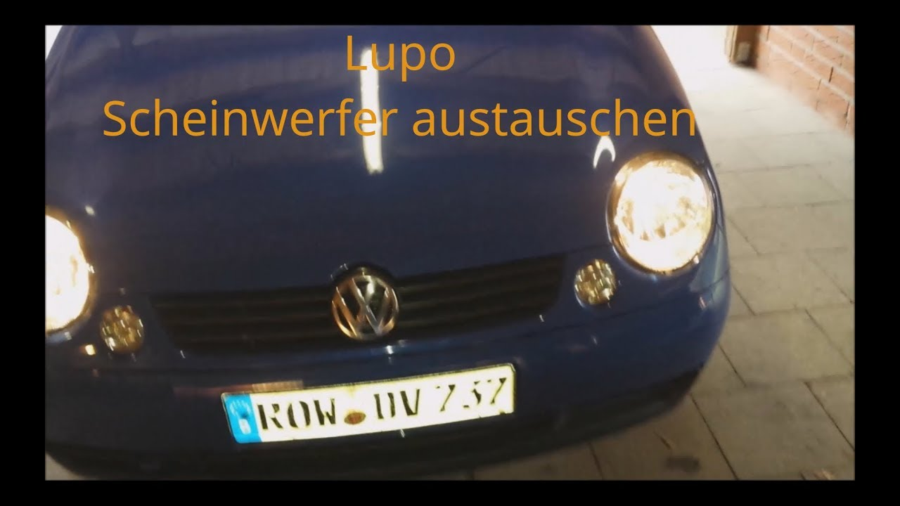 vw lupo scheinwerfer wechseln youtube. Black Bedroom Furniture Sets. Home Design Ideas