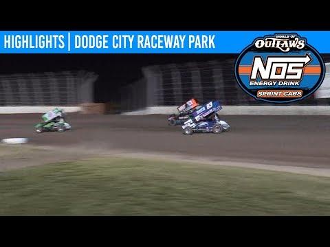 World of Outlaws NOS Energy Drink Sprint Cars Dodge City Raceway, September 20th, 2019 | HIGHLIGHTS