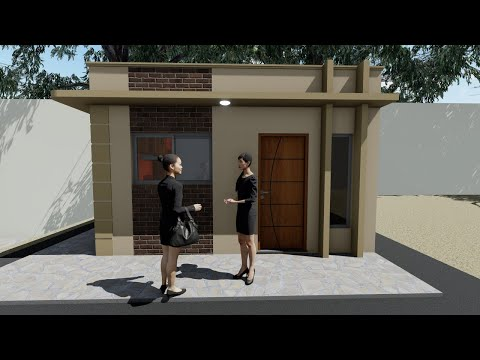Plano Casa Pequena 5x7 | Cozinha Americana | Small Home Design | Tiny House