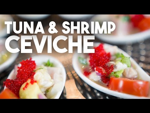 Shrimp And Tuna CEVICHE - Easy And Quick Recipe For New Year's Eve