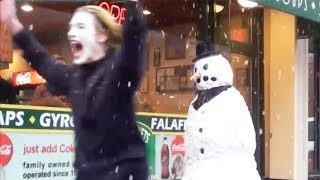 SCARY SNOWMAN Hidden Camera Practical Joke 2013 FULL SEASON (31 Mins)