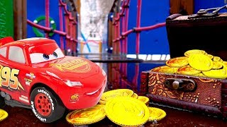 Lightning McQueen at the playground: McQueen toy car videos for kids