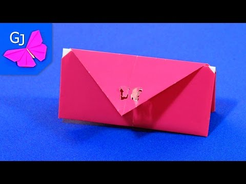 Как сложить кошелек оригами