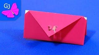 Оригами Кошелек из бумаги