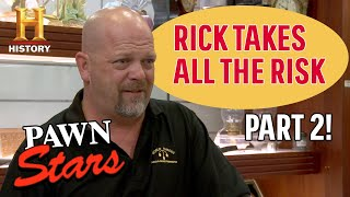 Pawn Stars: RISKING IT ALL FOR BIG MONEY (6 More Risky $$ Deals) | History