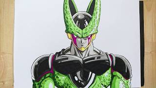 How to draw CELL | IN UNDER 10 Minutes - DRAGONBALL Z