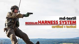 Tactical Rappelling Gear - md-textil Modular Harness System - Military and Law Enforcement