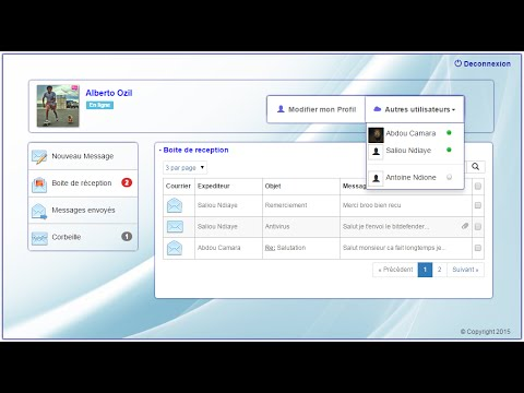 Application web de messagerie en php