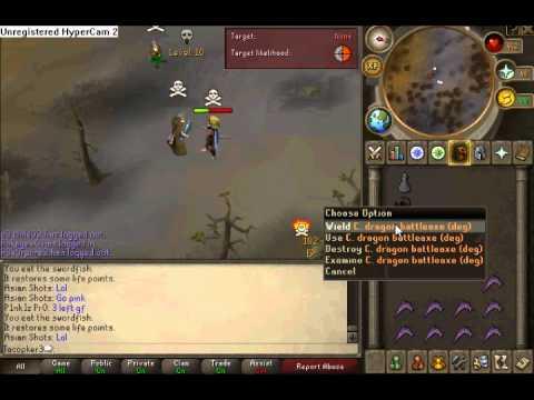 Loosing Corrupt Dragon Battle Axe Hah 4.5M