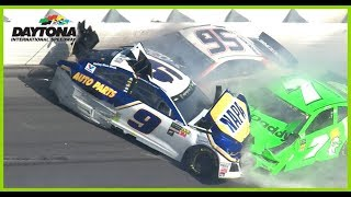 Elliott, Patrick Exit Daytona 500 After Major Damage In Wreck