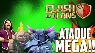 Clash Of Clans |ATAQUE MEGA| Clash Of Clans Ataque Con Golems Pekkas Y Magos