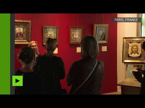Le centre orthodoxe russe de Paris accueillie une exposition d'icônes brodées