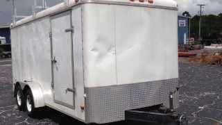 Used 2006 7x16 Cargo King Enclosed Trailer w/ Ladder Racks