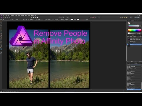 How To | REMOVE PEOPLE From Your Photos in Affinity Photo