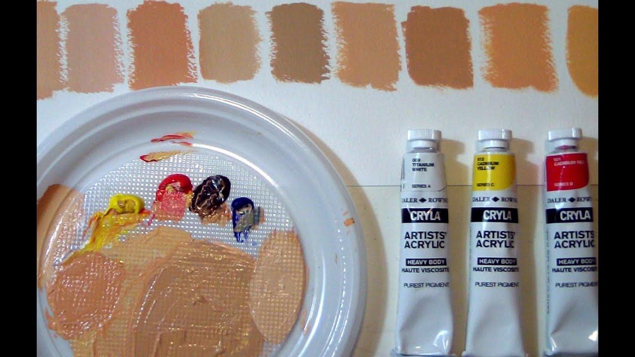 how to make flesh skin toin acrlic