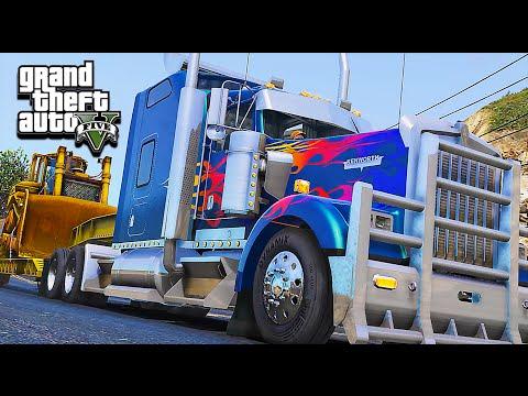 American Truck Simulator Multiplayer Mod in Grand Theft Auto V (ATS in GTA 5)