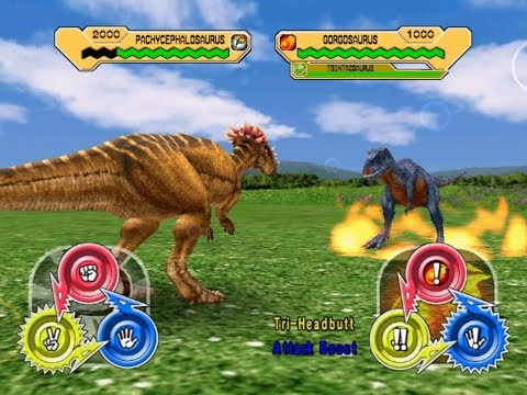 Dinosaur King Arcade Game - Combat With Wind Dinosaurs ...