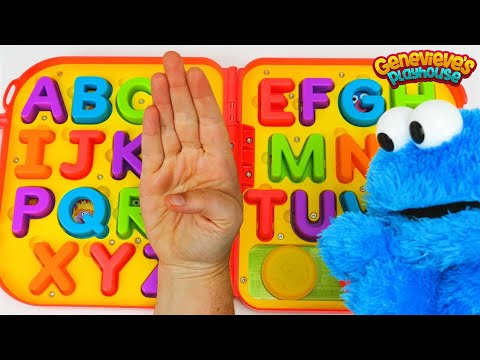 Thumbnail: Toddler Learning Video for Kids Cookie Monster ABC Alphabet Sign Language Letters Preschool Toys