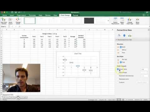 Excel: Graphing with separate Error Bars of Standard Deviation