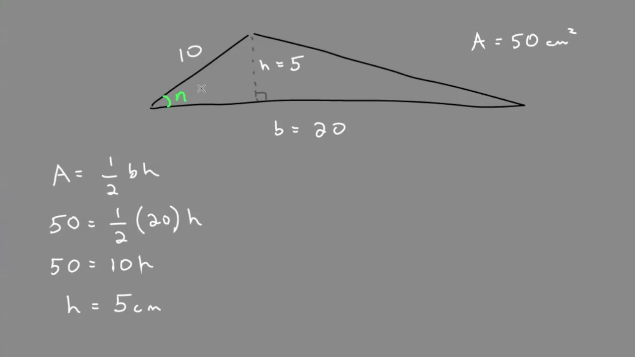 Solving a Multistep Problem with Trig - YouTube