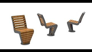Animatie FalcoLinea draaibare stoel