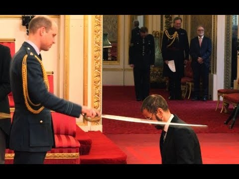 Arise Sir Ringo! Beatle knighted at Buckingham Palace  ITV