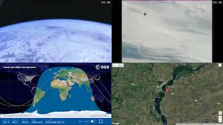 Progress 69P Docking - ISS Space Station Earth View LIVE NASA/ESA Cameras And Map - 77