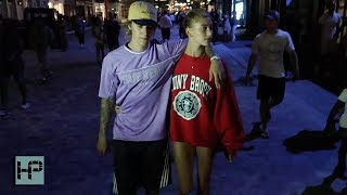 Justin Bieber & Fiancé Hailey Baldwin Date Night - Arrives Home and Scolds Fans
