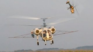 Two Kamov Ka-26 helicopters working from one place