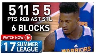 Jordan Bell Full Highlights vs Timberwolves (2017.07.11) Summer League - 5 Pts, 11 Reb, 6 Blocks