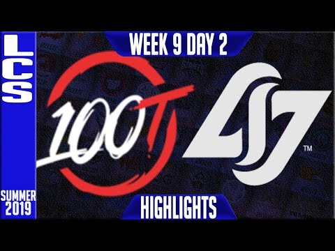 100 vs CLG Highlights | LCS Summer 2019 Week 9 Day 2 | 100 Thieves vs Counter Logic Gaming
