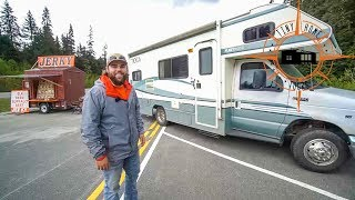 A Man, His Dog & RV ~ Making A Living On The Road In His Motorhome Selling Jerky
