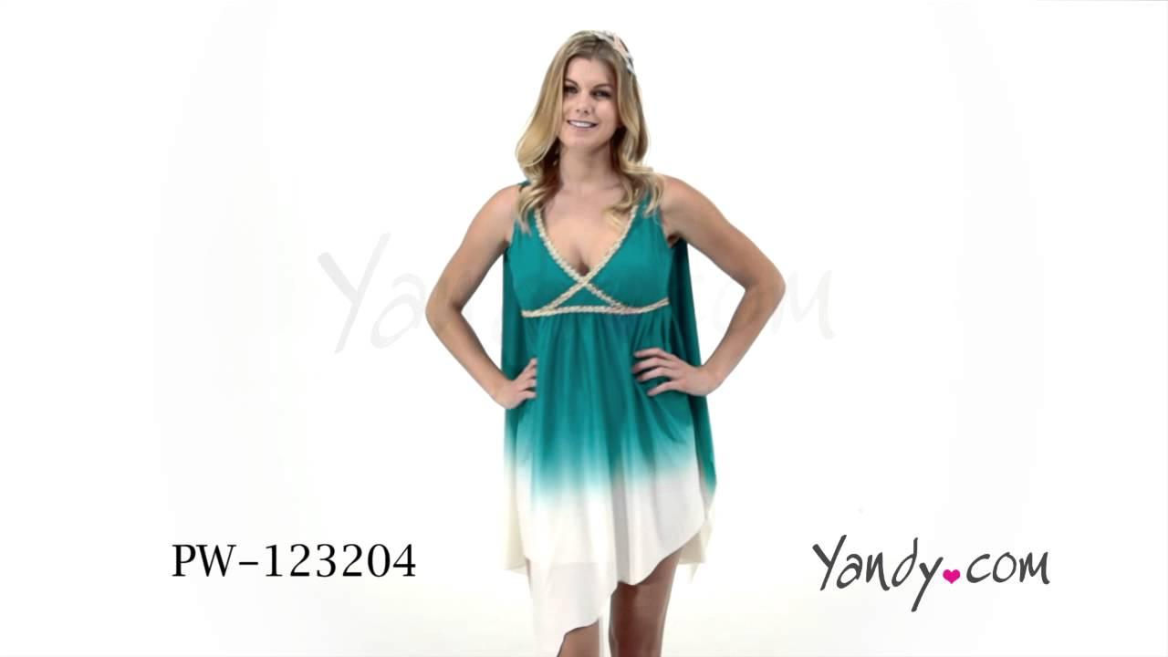 Calypso Sea Goddess Costume PW 123204 - YouTube