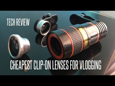 REVIEW: Lazada & 3 Cheap Cellphone Clip-on Lenses For Vlogging!