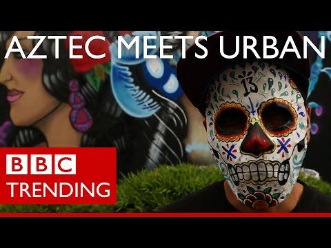 Mexico's street art explosion - Aztec meets urban - BBC Trending
