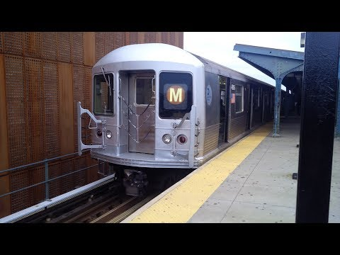 MTA NYC Subway: On Board R42 (M) Shuttle Train 4828 Metropolitan Av to Myrtle-Wyckoff Avs (Tk M1)
