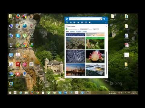 How to save wallpaper from Microsoft Bing Desktop